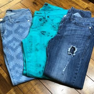 Bundle of 3 Rock & Republic Skinny Jeans - SZ 10 M